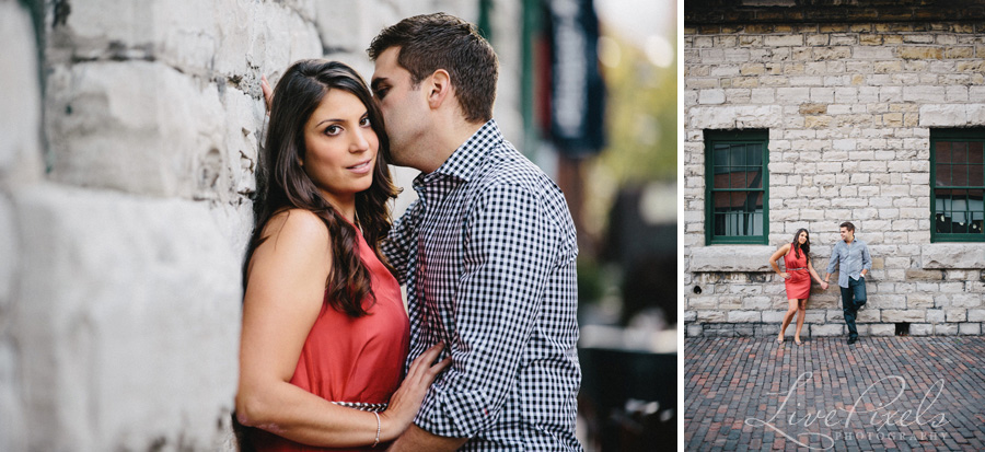 """beautiful couple in the distillery historic district toronto"""
