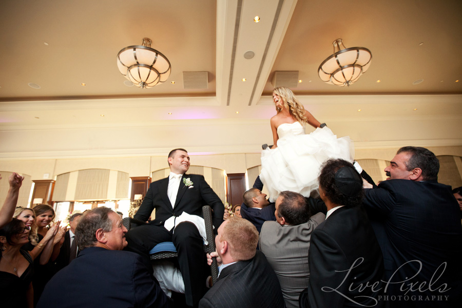 """hora jewish wedding dance at eagle's nest golf club"""