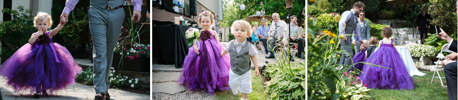 """gorgeous flower girl and a ring boy at the toronto wedding"""