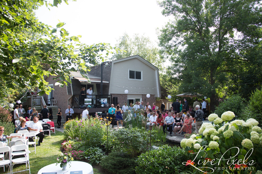 """guests at the backyard wedding toronto"""