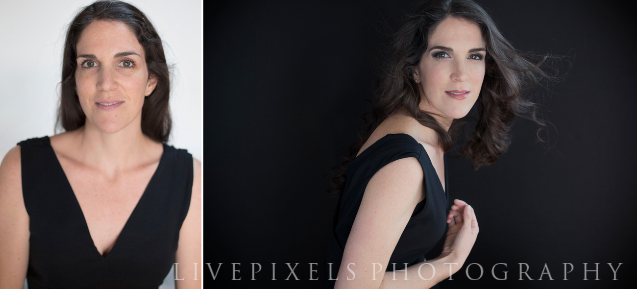 Makeover glamour portrait session before and after