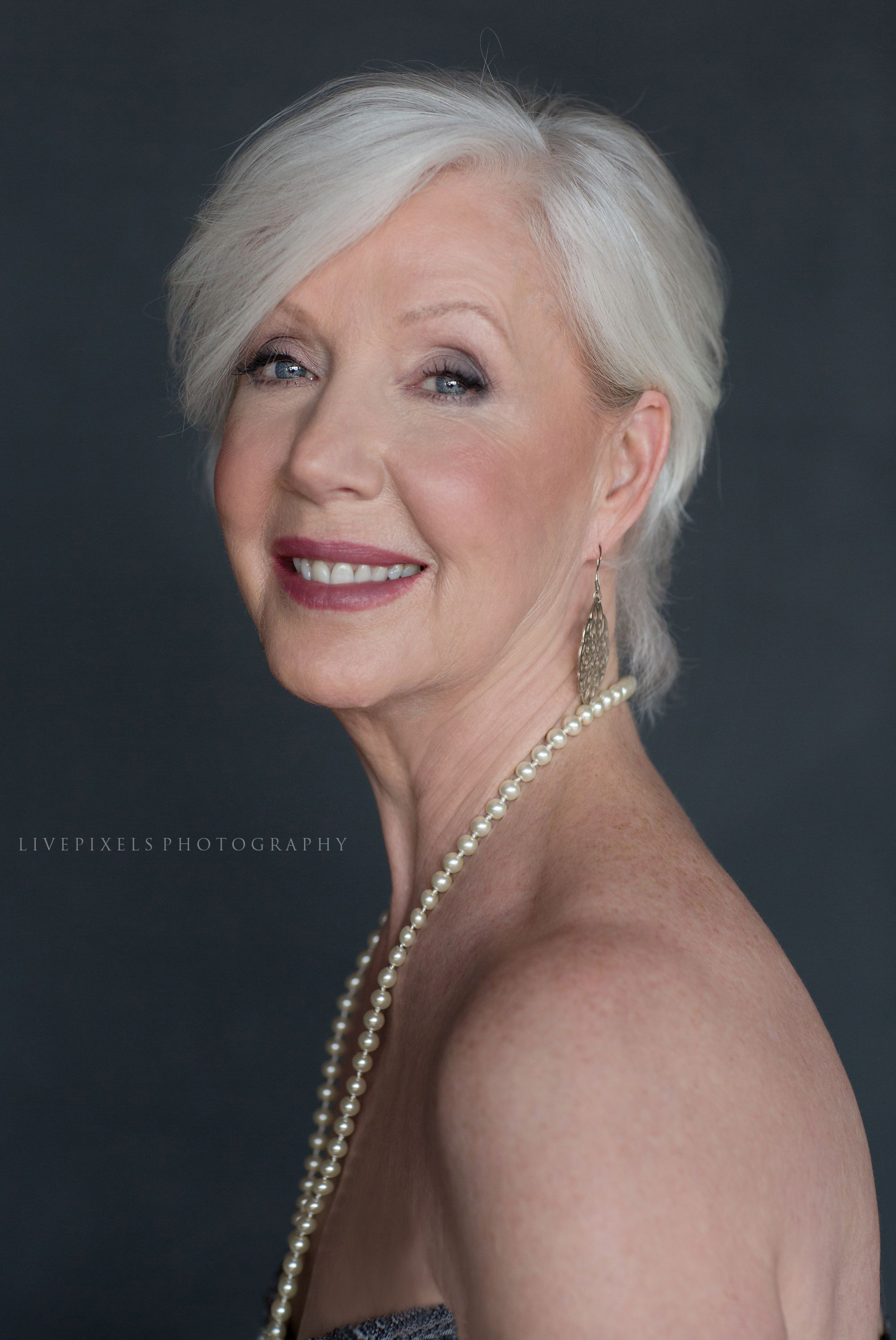 Gorgeous at 60, glamour studio portrait - Livepixels Photography, Toronto / livepixelsphotography.com