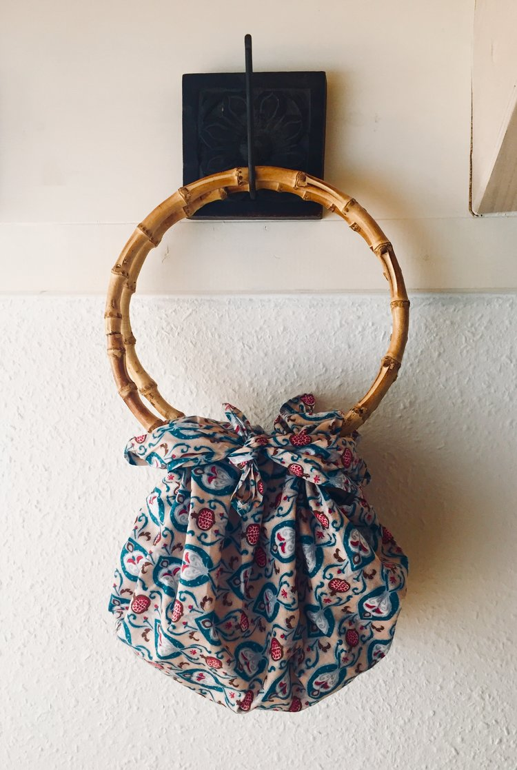 Teal Furoshiki Bamboo Bag from FabRap