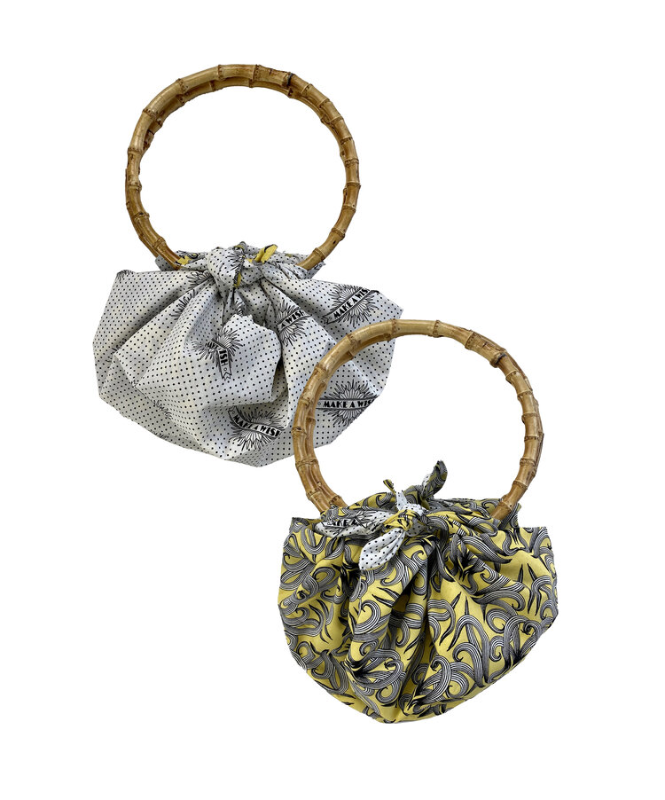 Sunshine Nouveau & Make A Wish Double Sided Reversible Furoshiki Bamboo Bag from FabRap