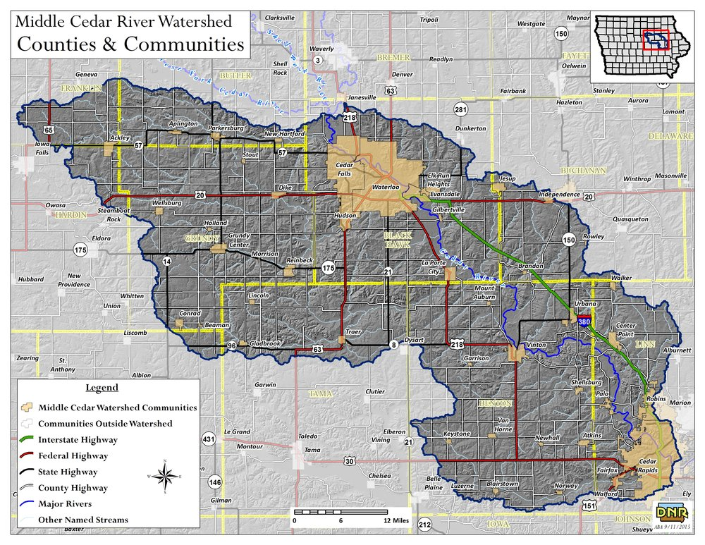 Send us a note! - Just fill out the short form below and let us know what you're interested in!Landowners and producers in the Middle Cedar Watershed can receive a free conservation assessment. For more information about this effort, follow the FAQ link below.