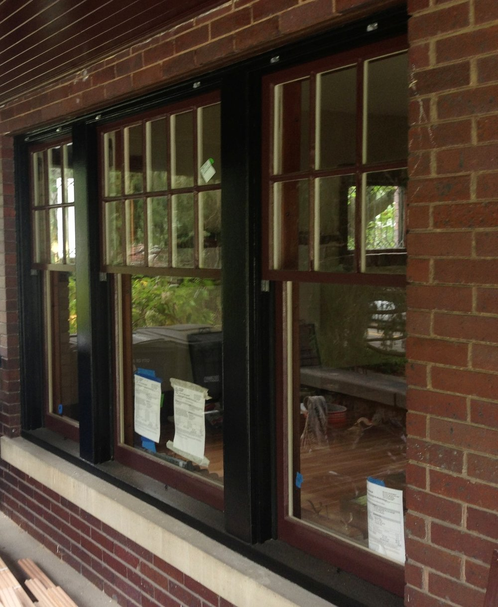Refinished Exterior - Glazing windows improves the look and energy efficiency