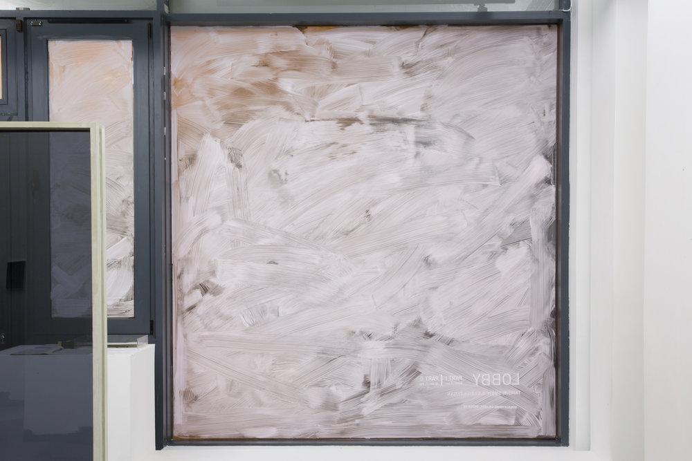 Lobby Part I, 2015  Perspex, faux concrete, light boxes, Duratrans photographic prints, Windolene  Dimensions variable
