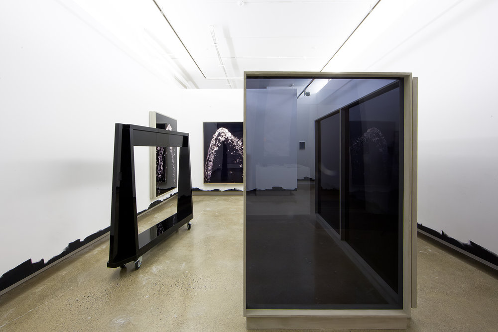 Lobby Part I, 2015  Perspex, faux concrete, light boxes, Duratrans photographic prints Dimensions variable