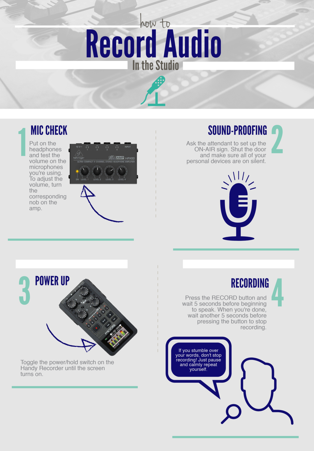 Part 1 of our guide to recording in the sound booth in DPH 216.