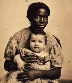 The Hayward Family's Slave Louisa with Her Legal Owner ca. 1858. Missouri Historical Society, St. Louis via pbs.org