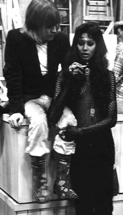 Here with Brian Jones from The Rolling Stones