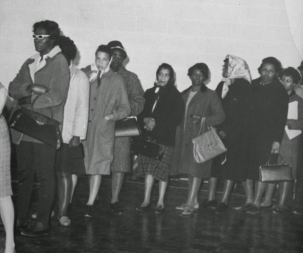 Women voting in Baltimore via SNCC.org