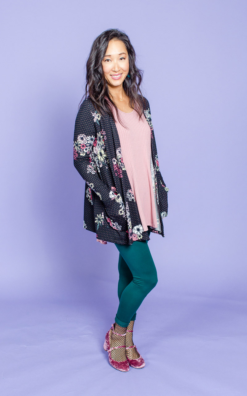 LuLaRoe-Caroline-Mid-Length-Cardigan-with-side-pockets-black-and-pink-floral-and-polka-dots.jpg