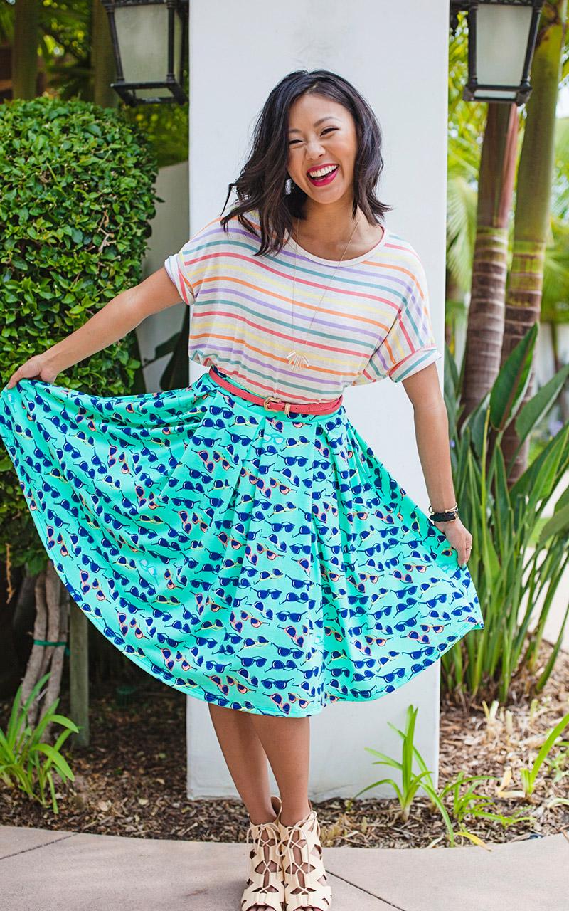 LuLaRoe-Madison-Mid-Length-Skater-Skirt-With-Pockets-sunglasses-jpg