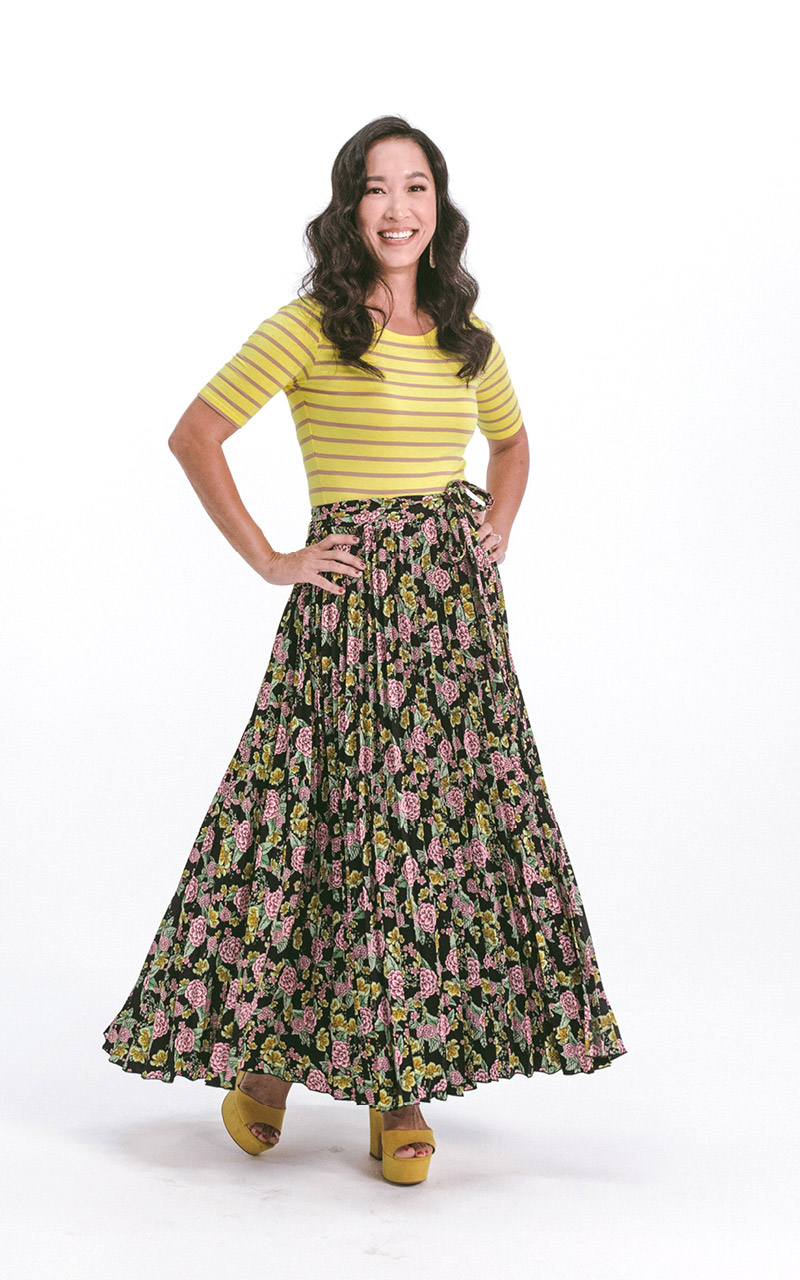 LuLaRoe-DeAnne-Maxi-Pleated-pink-and-yellow-floral-on-black.jpg