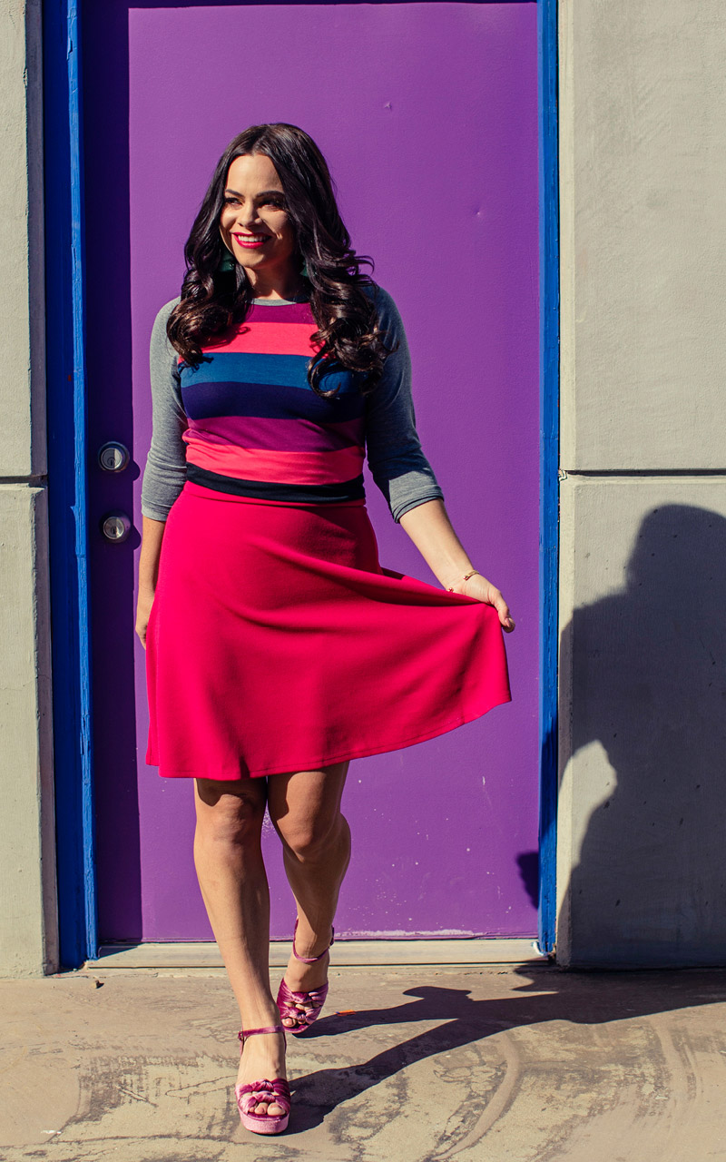 LuLaRoe-Azure-Mid-Length-A-Line-Skit-With-Yoga-Band-bright-magenta-pink.jpg