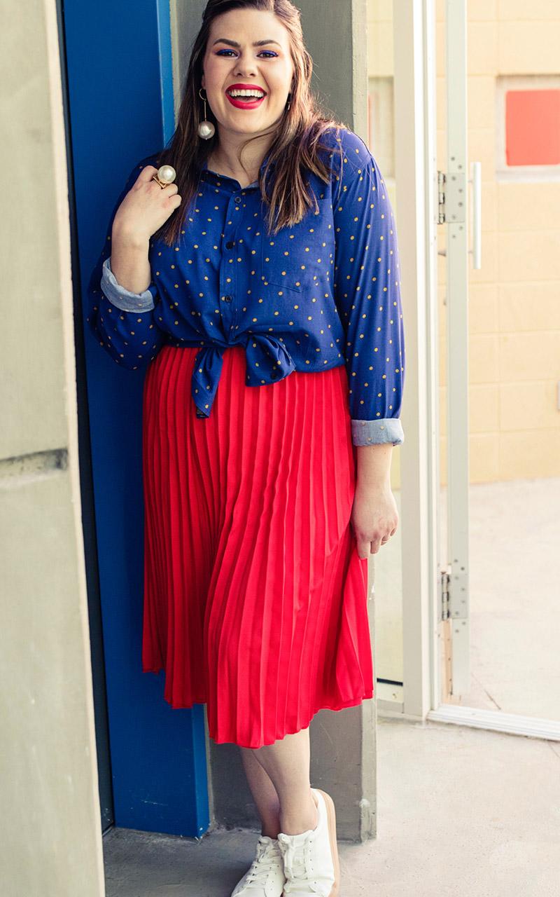 LuLaRoe-Jill-Pleated-mid-length-elastic-waistband-bright-red.jpg