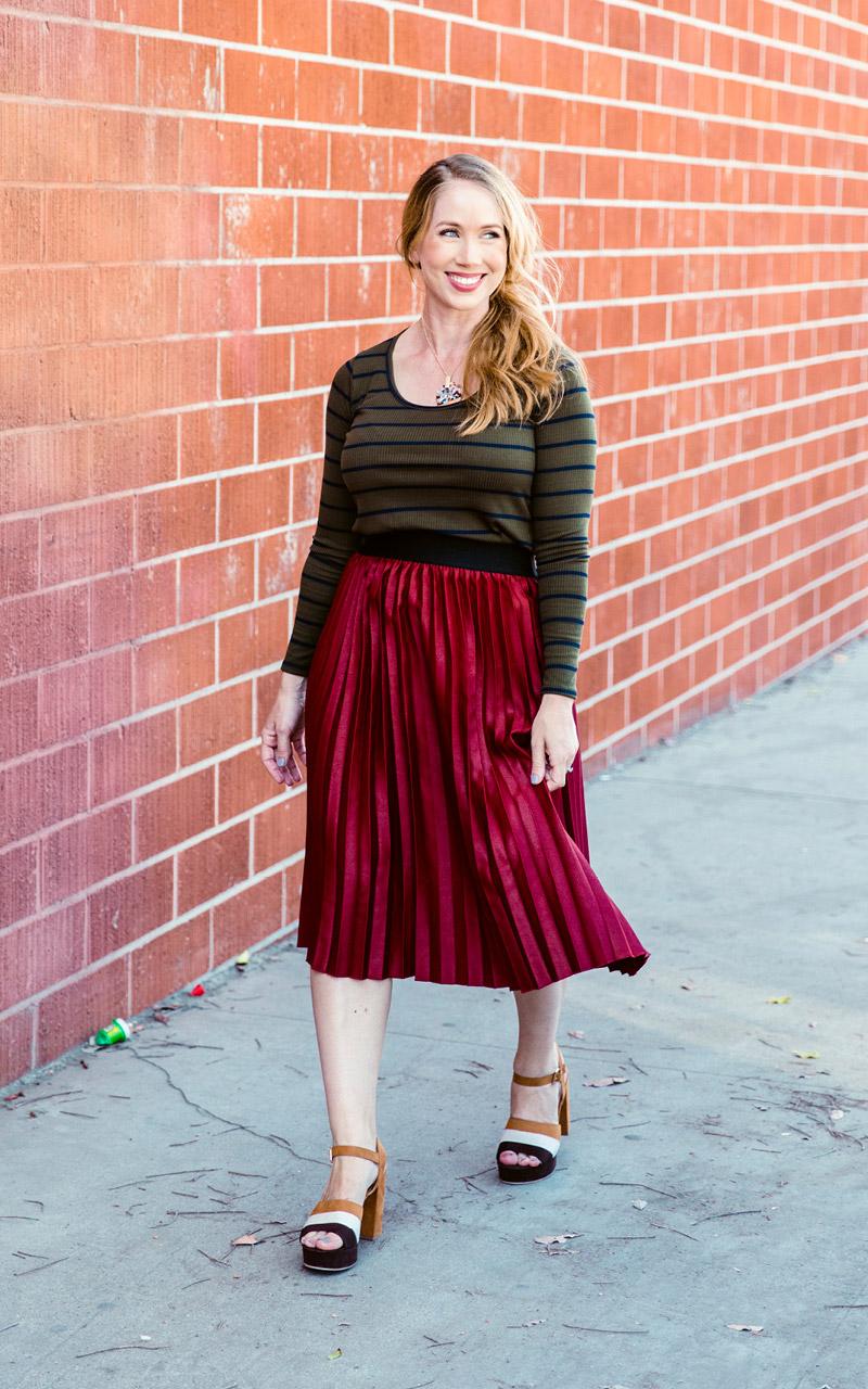 LuLaRoe-Jill-Pleated-mid-length-elastic-waistband-burgundy-solid.jpg