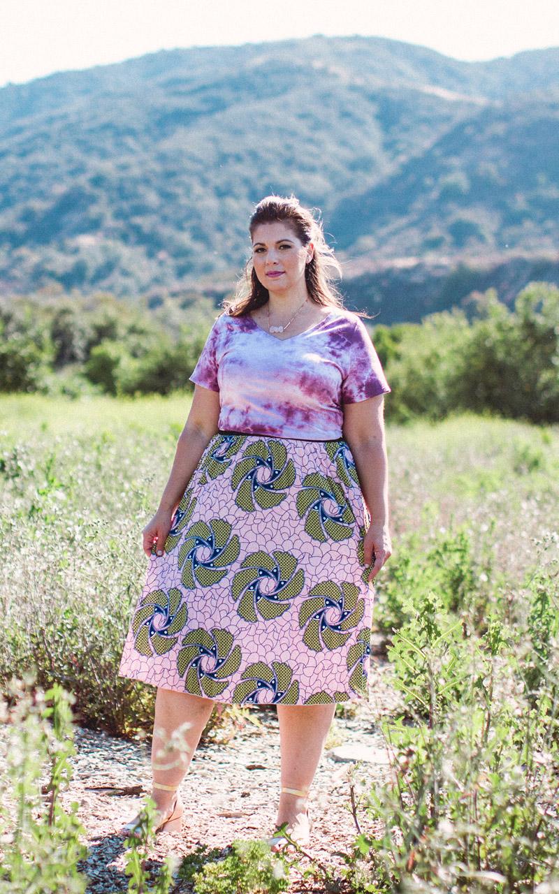 LuLaRoe-Jill-Pleated-mid-length-elastic-waistband-pink-and-green-floral.jpg