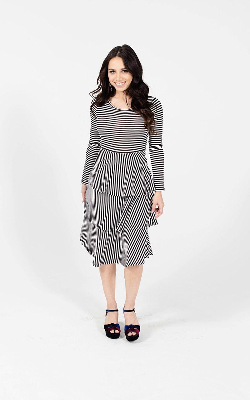 2719a3c9505e6 GEORGIA DRESS. Lularoe-Georgia-Long-Sleeve-Layered-Ruffle-Tier-mid-