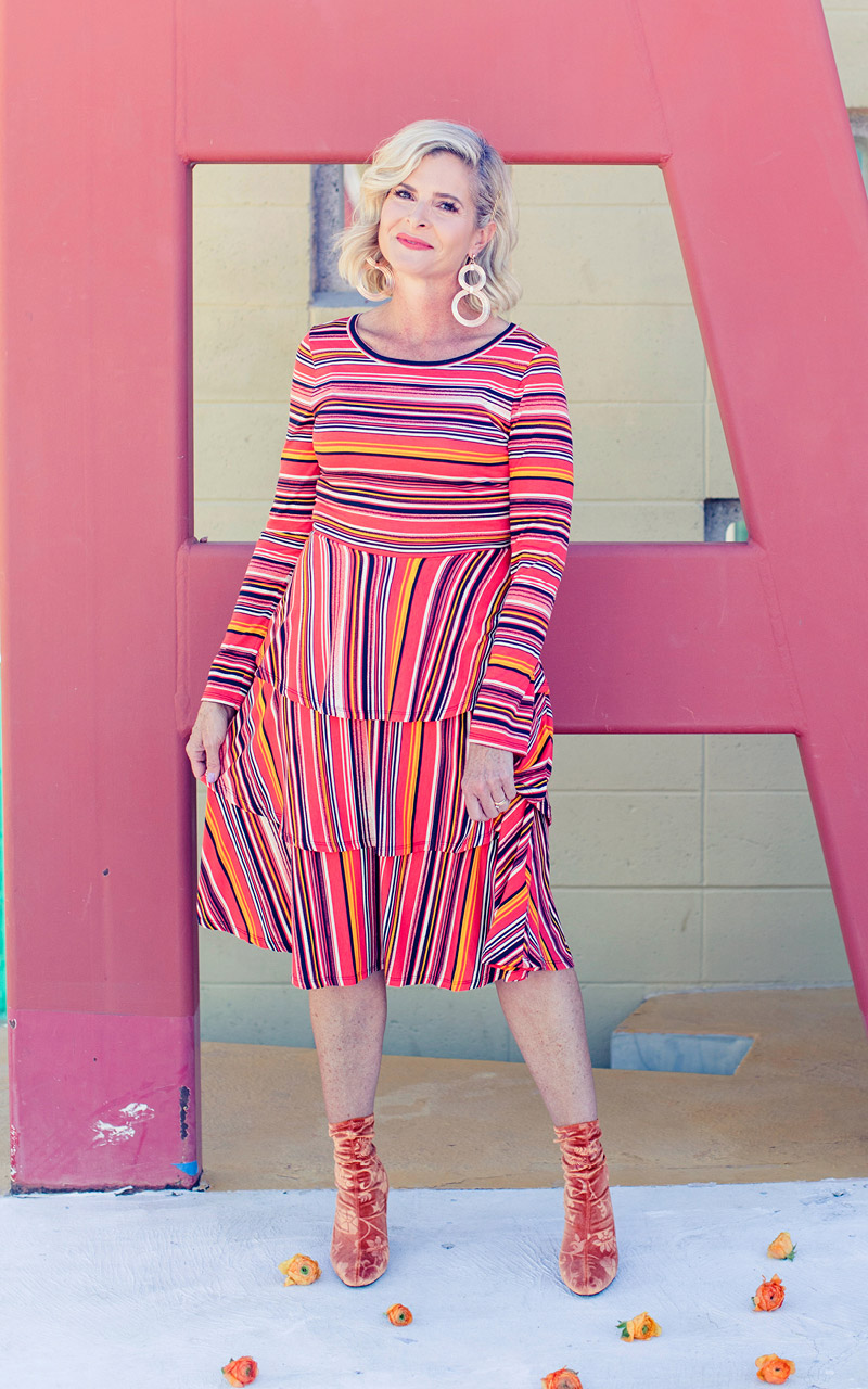 Lularoe-Georgia-Long-Sleeve-Layered-Ruffle-Tier-mid-length-dress-colorful-stripes-red-and-orange.jpg