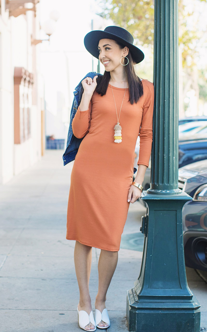 Lularoe-Debbie-Mid-Length-Long-Sleeve-Fitted-Sheath-Dress-orange-.jpg
