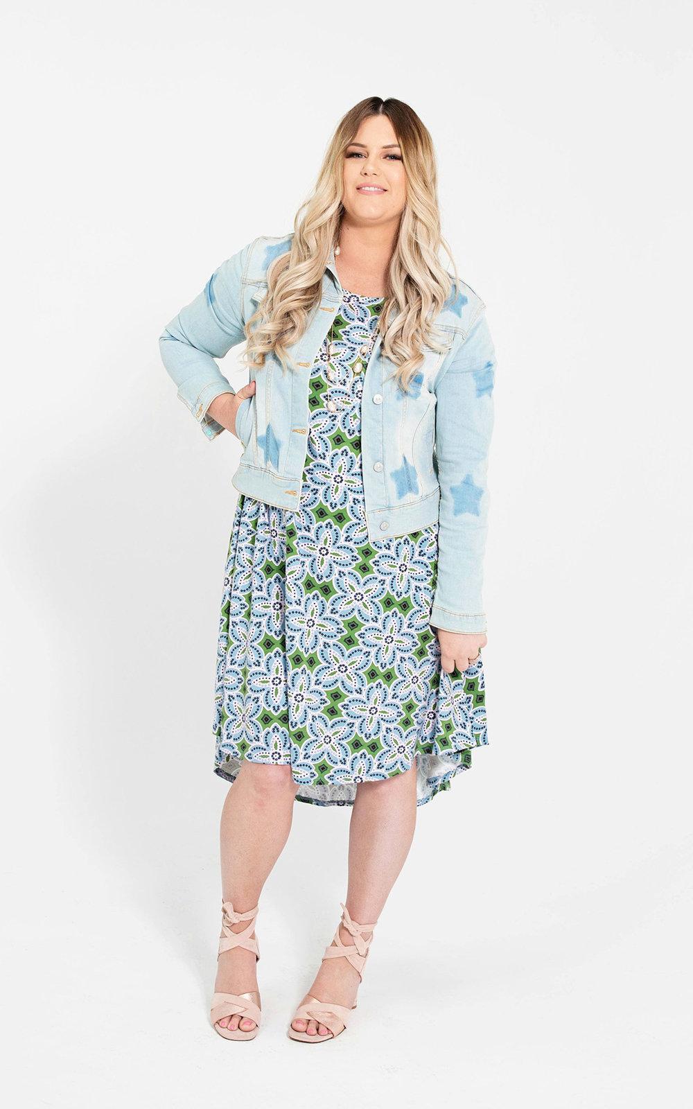 LuLaRoe-Carly-T-Shirt-High-Low-Dress-blue-and-green-floral-tile-art.jpg