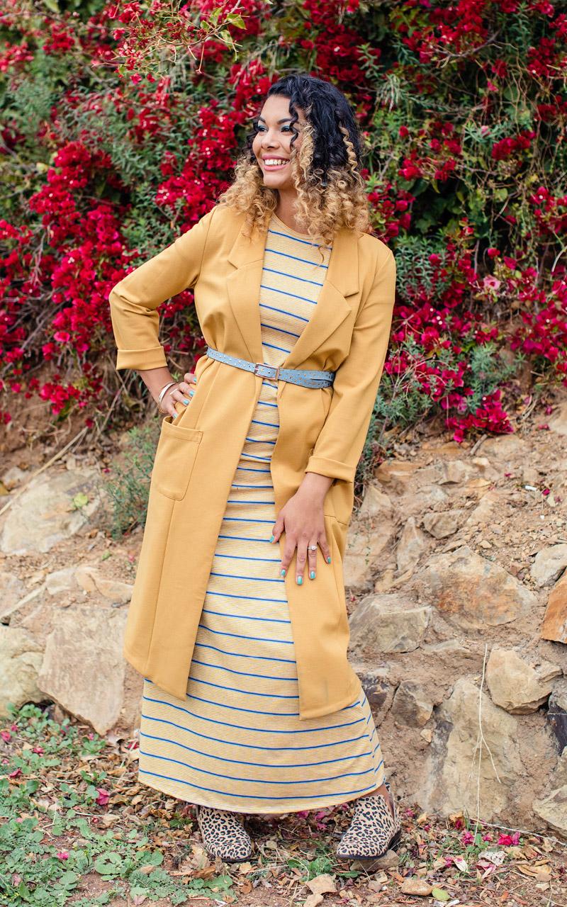 LuLaRoe-Maria-Maxi-T-shirt-Dress-yellow-mustrad-and-blue-stripes.jpg