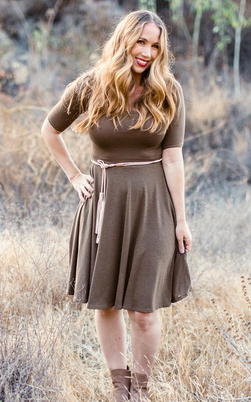 LuLaRoe-Nicole-Mid-Length-Skater-Dress-solid-brown.jpg