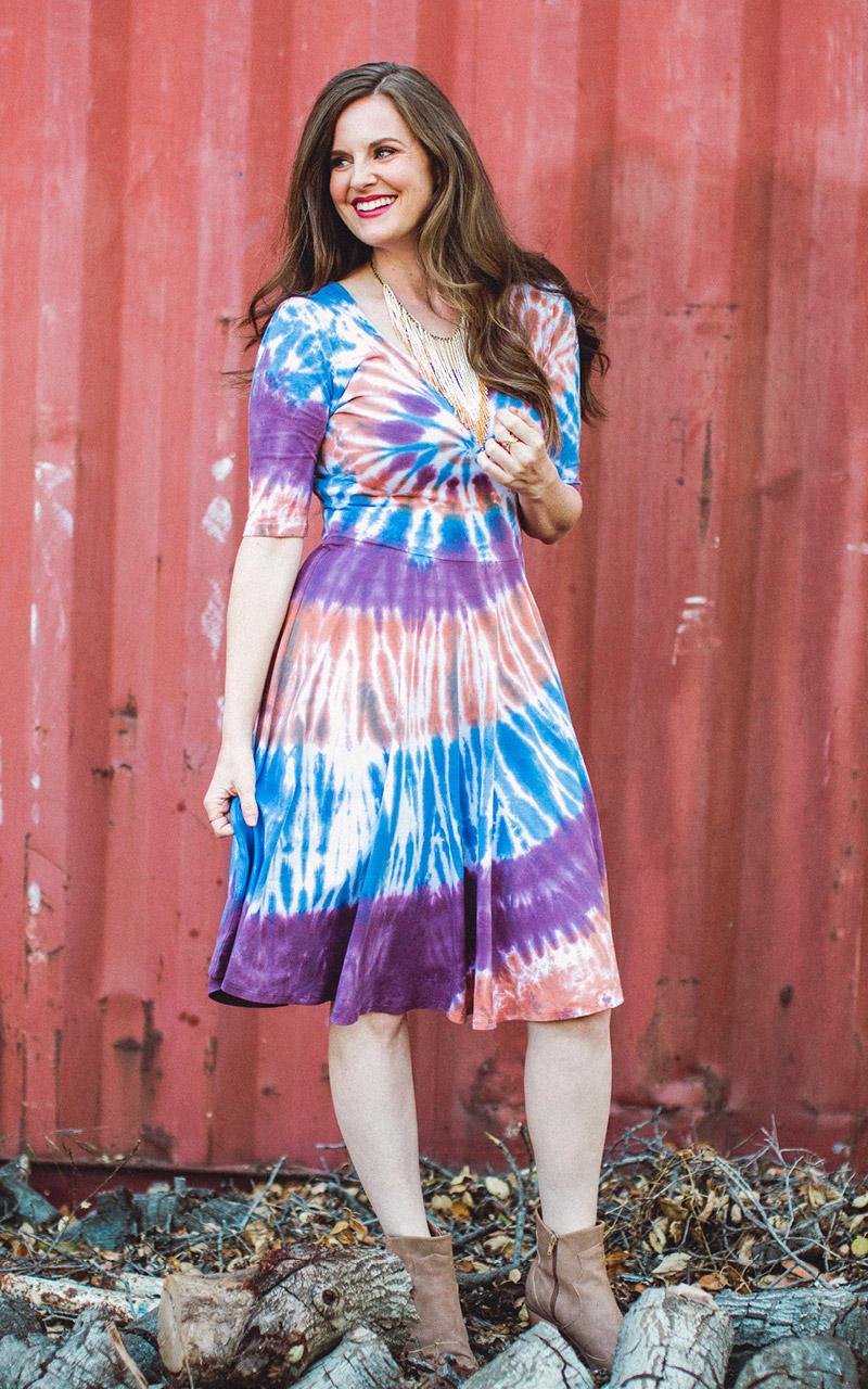 LuLaRoe-Nicole-Mid-Length-Skater-Dress-tie-dye-orange-purple-and-blue.jpg