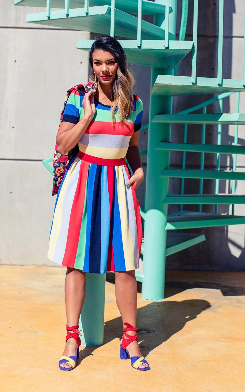 97525fc4ef7 LuLaRoe-Amelia-Mid-Length-Skater-Dress-With-Pockets-