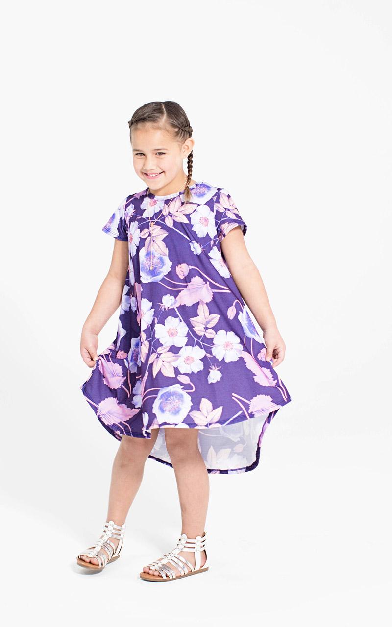 9bafb748d953 LuLaRoe-Scarlett-kids-T-shirt-dress-purple-floral.