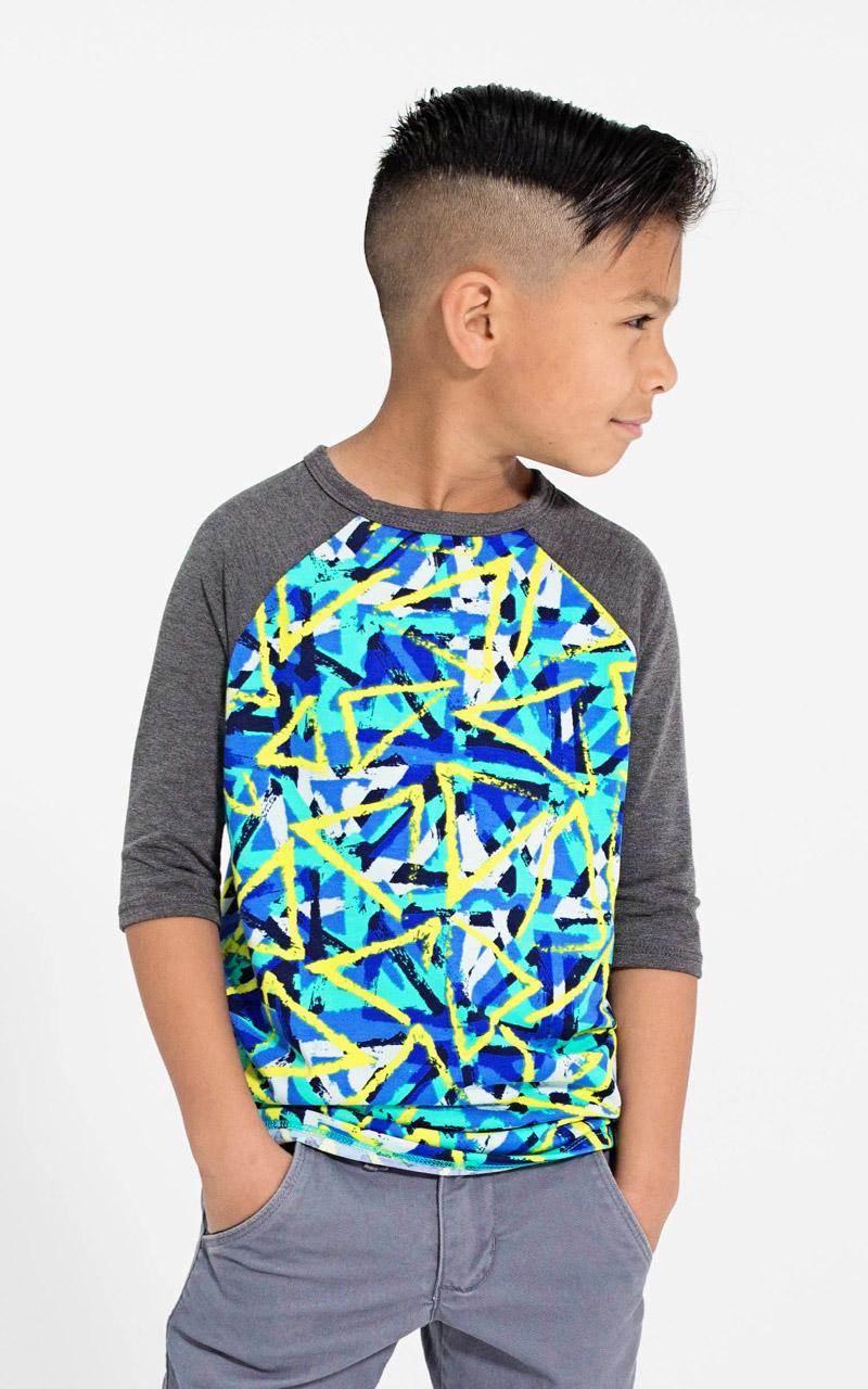 LuLaRoe-Kids-Sloan-Baseball-T-Shirt-dark-gray-green-yellow-triangles.jpg