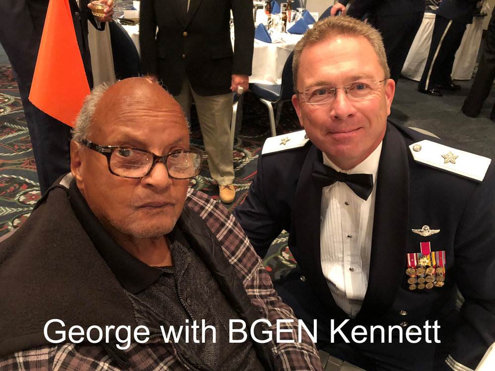George was guest of honor at this 2018 Honor Flight Gala.
