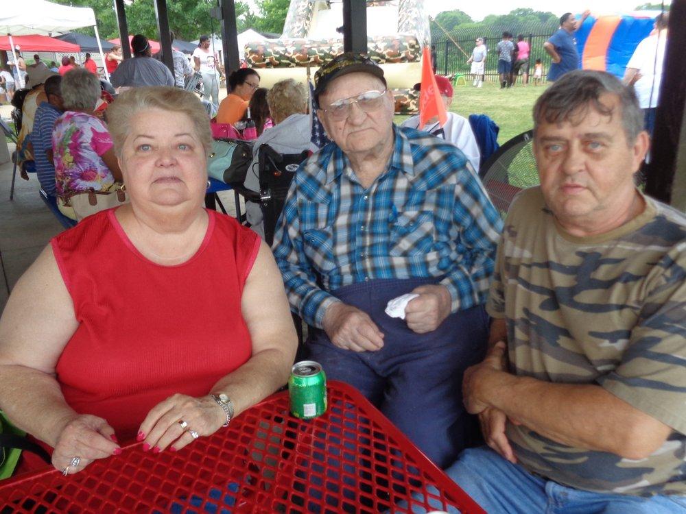 Loyd and family at MVH 4th July picnic.