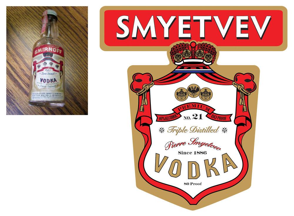 Actual/ Fictional Vodka Label Design