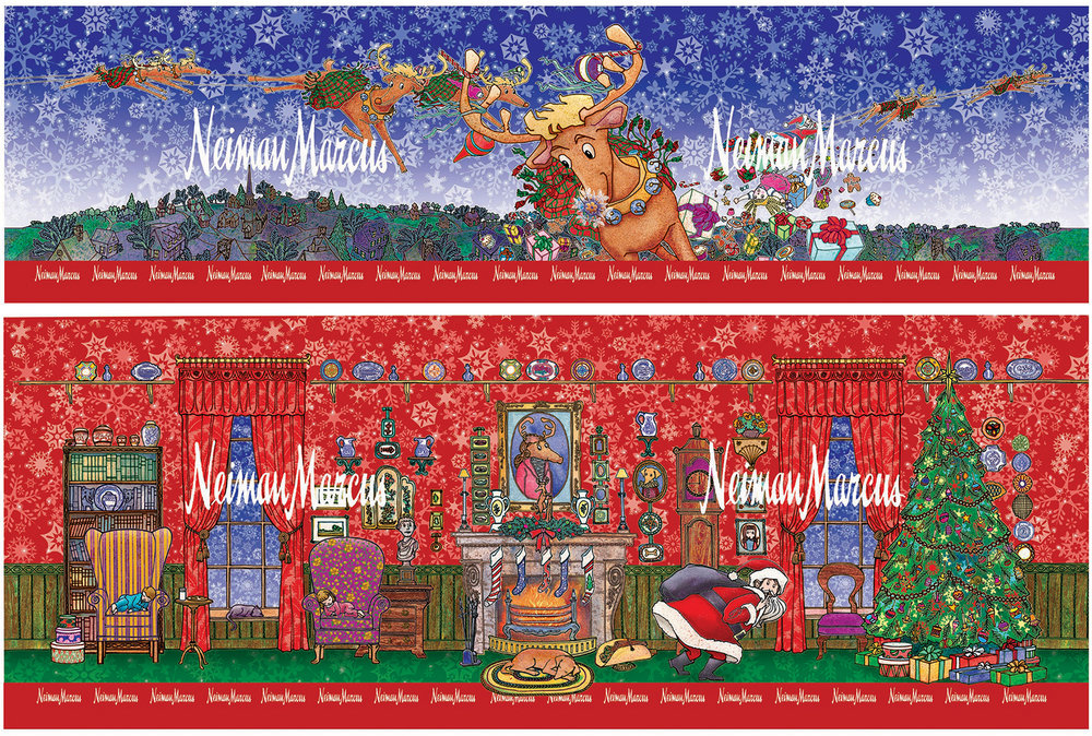 Christmas Tin for Neiman Marcus