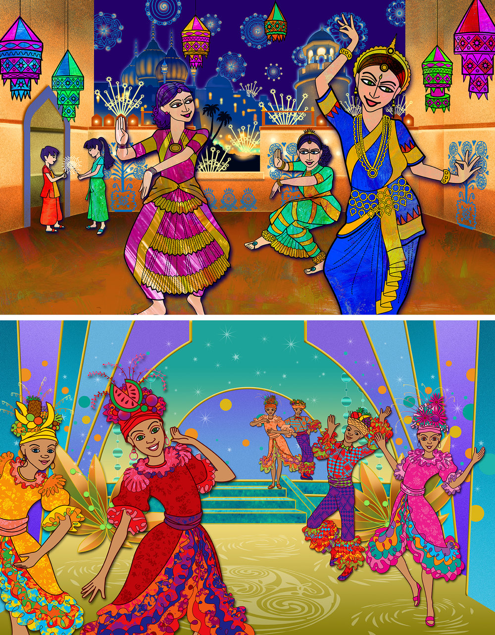 Celebration of India and Brazil for Barney & Friends