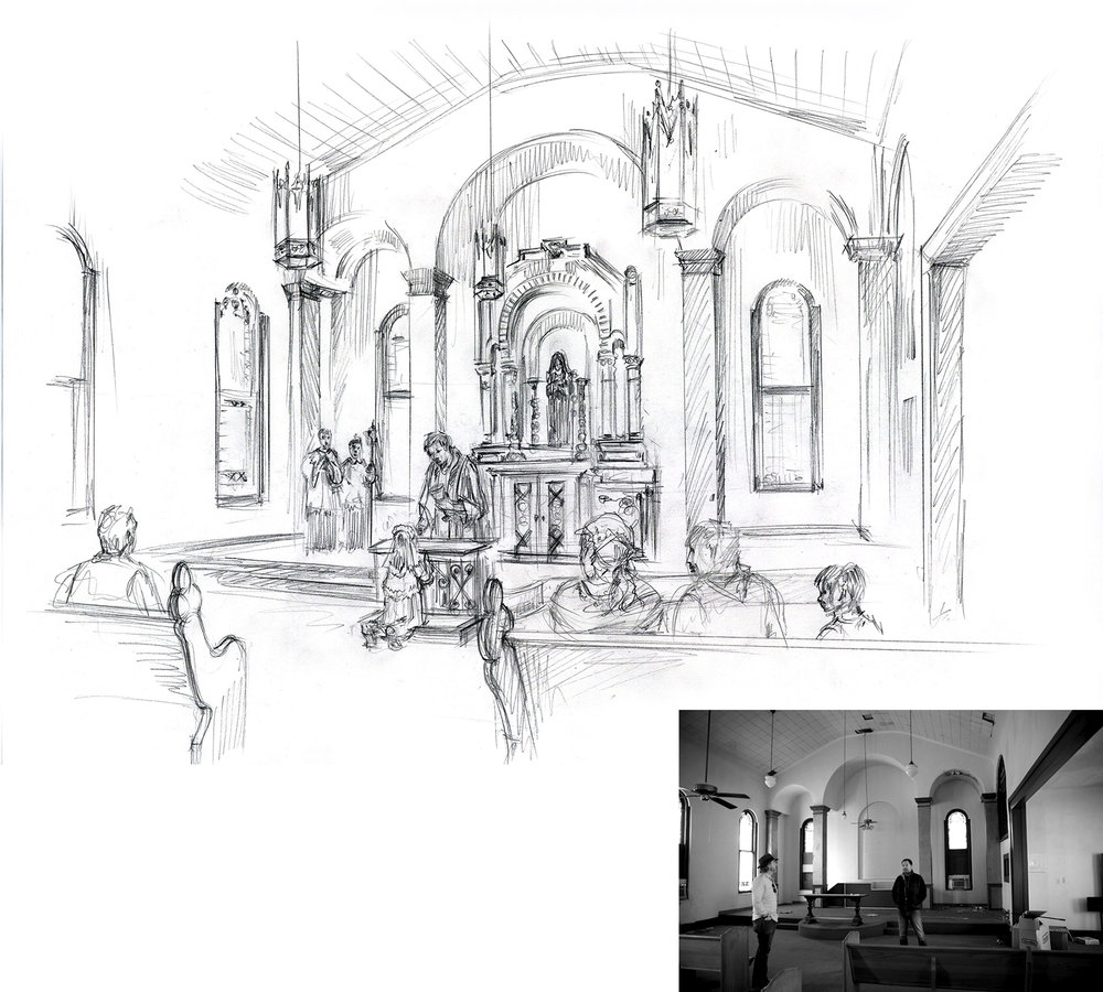 Church Concept Sketch