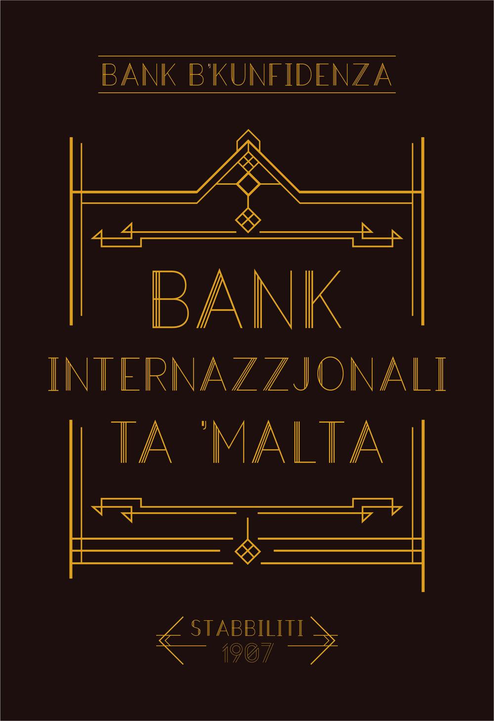 Malta Bank Sign
