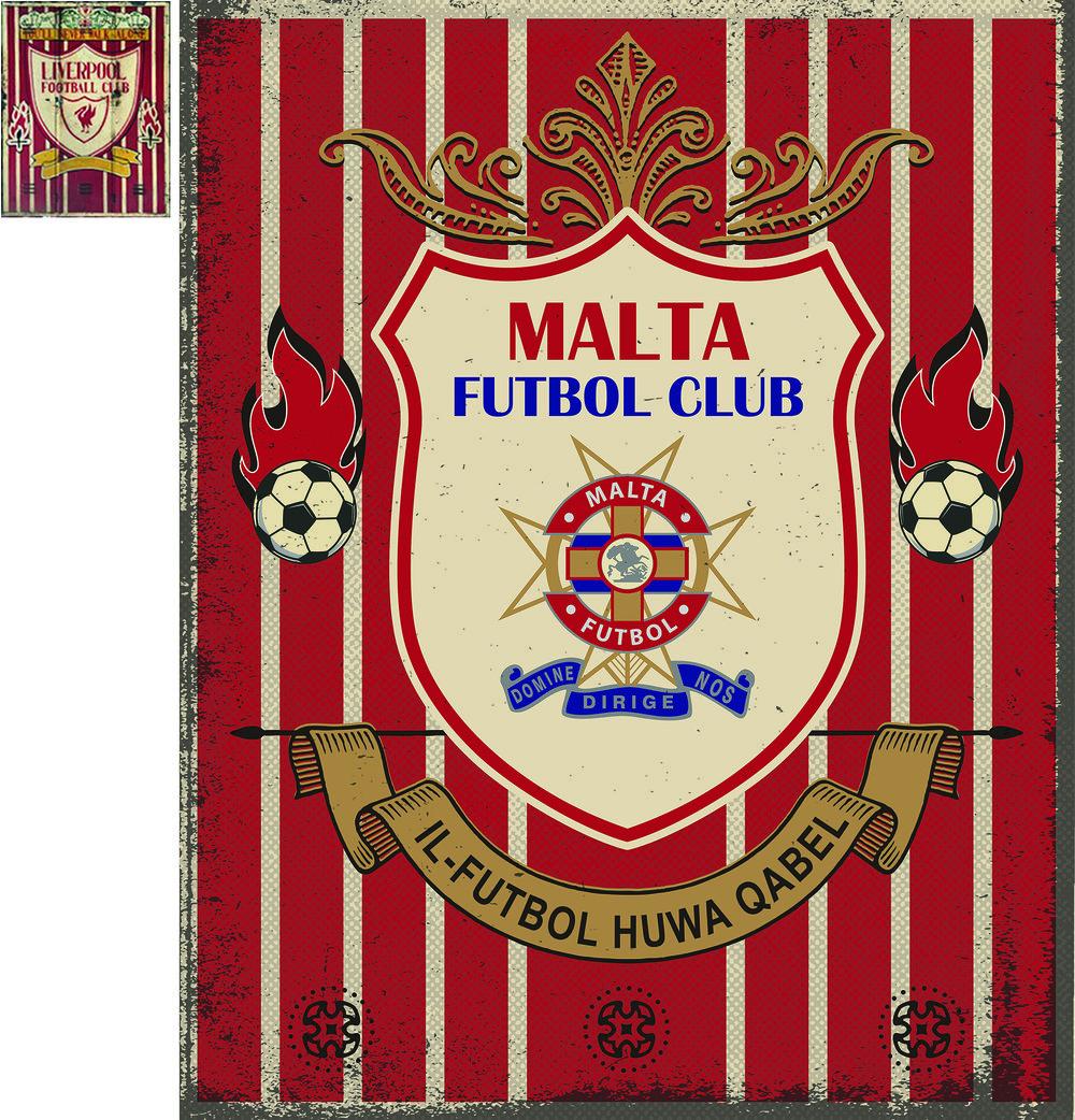 Malta Football Sign