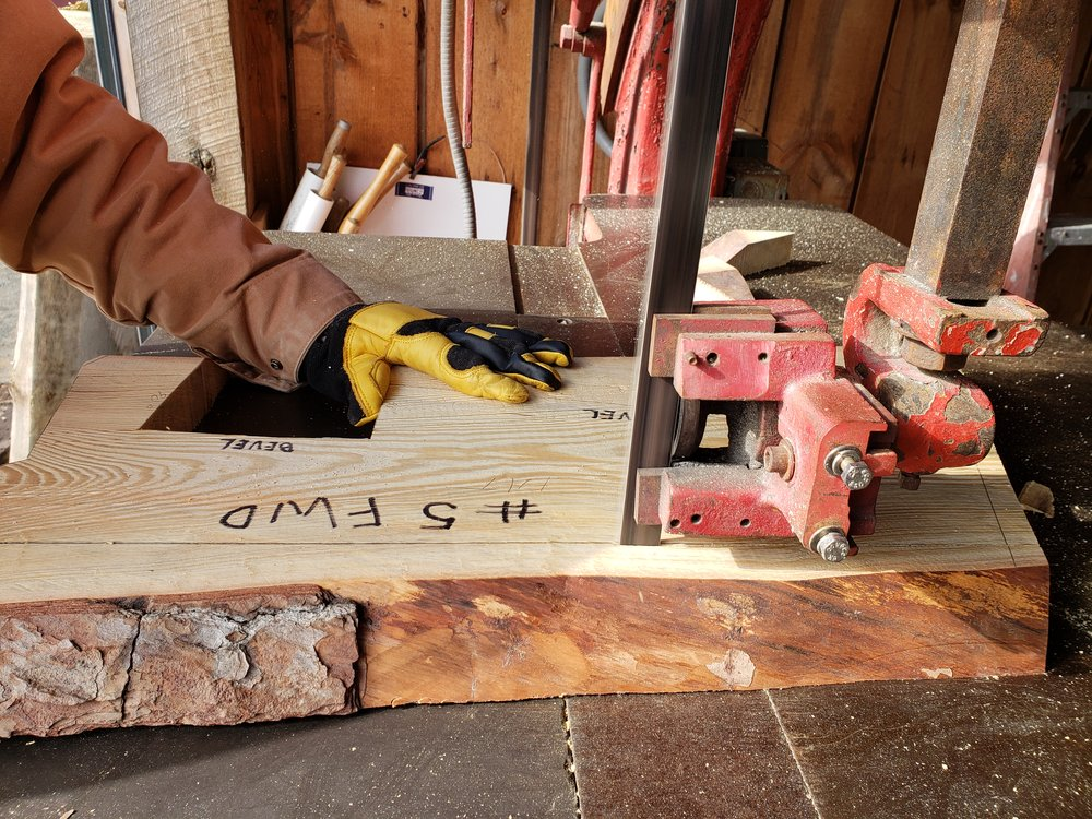 Tom is using our ship saw to cut out parts of for station # 5.