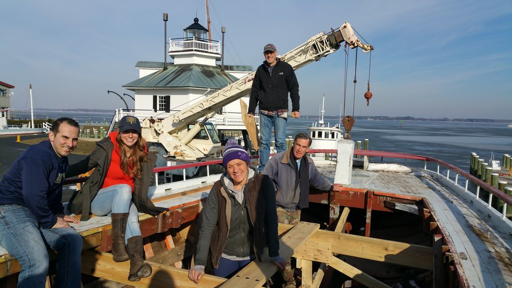 I want to thank our awesome crew for the day for their help! If you are interested in working on the  Delaware  restoration please visit http://cbmm.org/learn/shipyard-programs/ for registration and a list of program dates.  JK