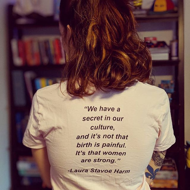 Wonderful quote on the back of the #ZSFG doula volunteer t-shirts! . #doula #doulasupport #birth #birthwithoutfear #empoweredbirth #birthmatters #motherhood #baby #sfgh