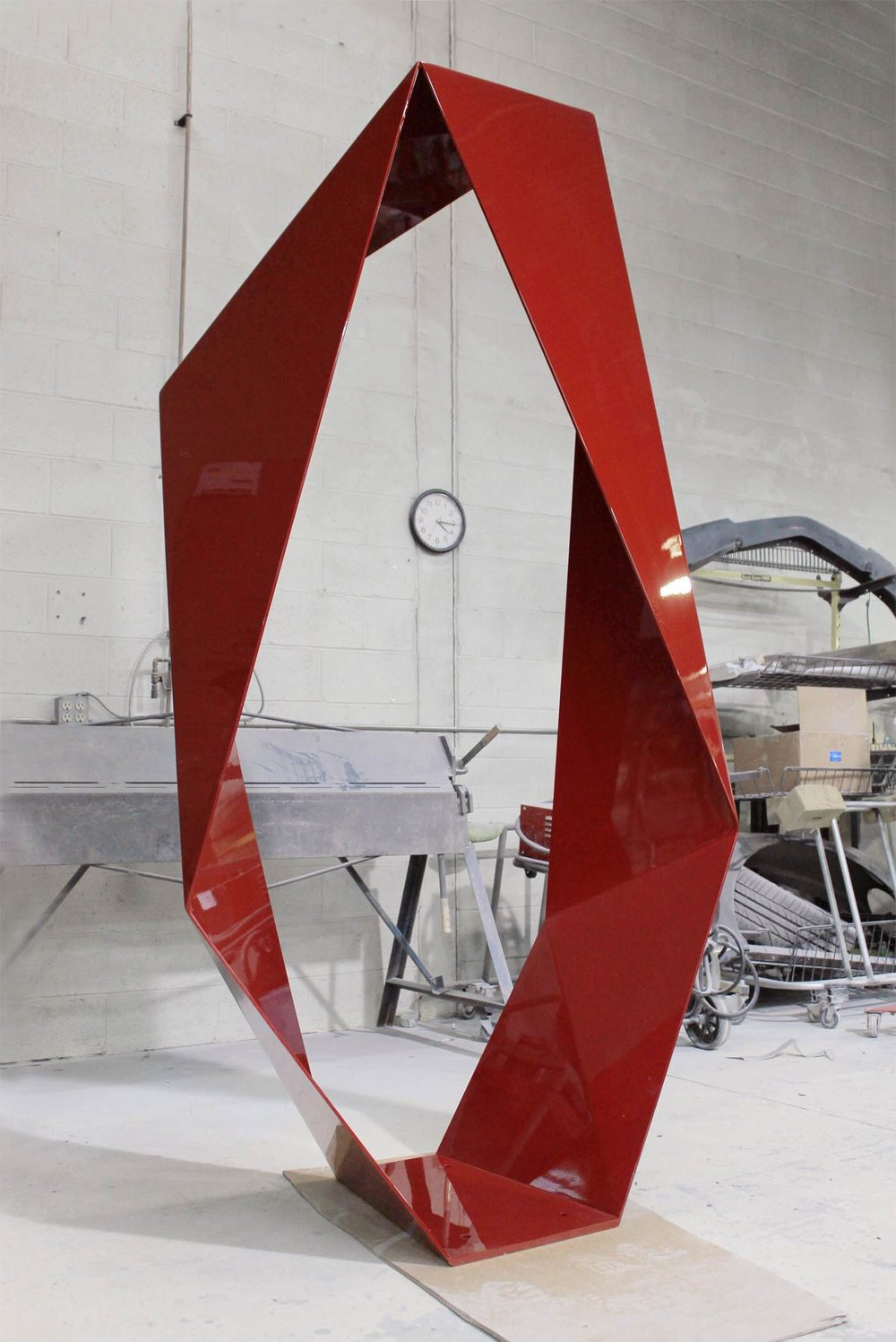 "Always Forever Now,    Automotive Lacquer on Stainless Steel, 96"" x 48"" x 24"""
