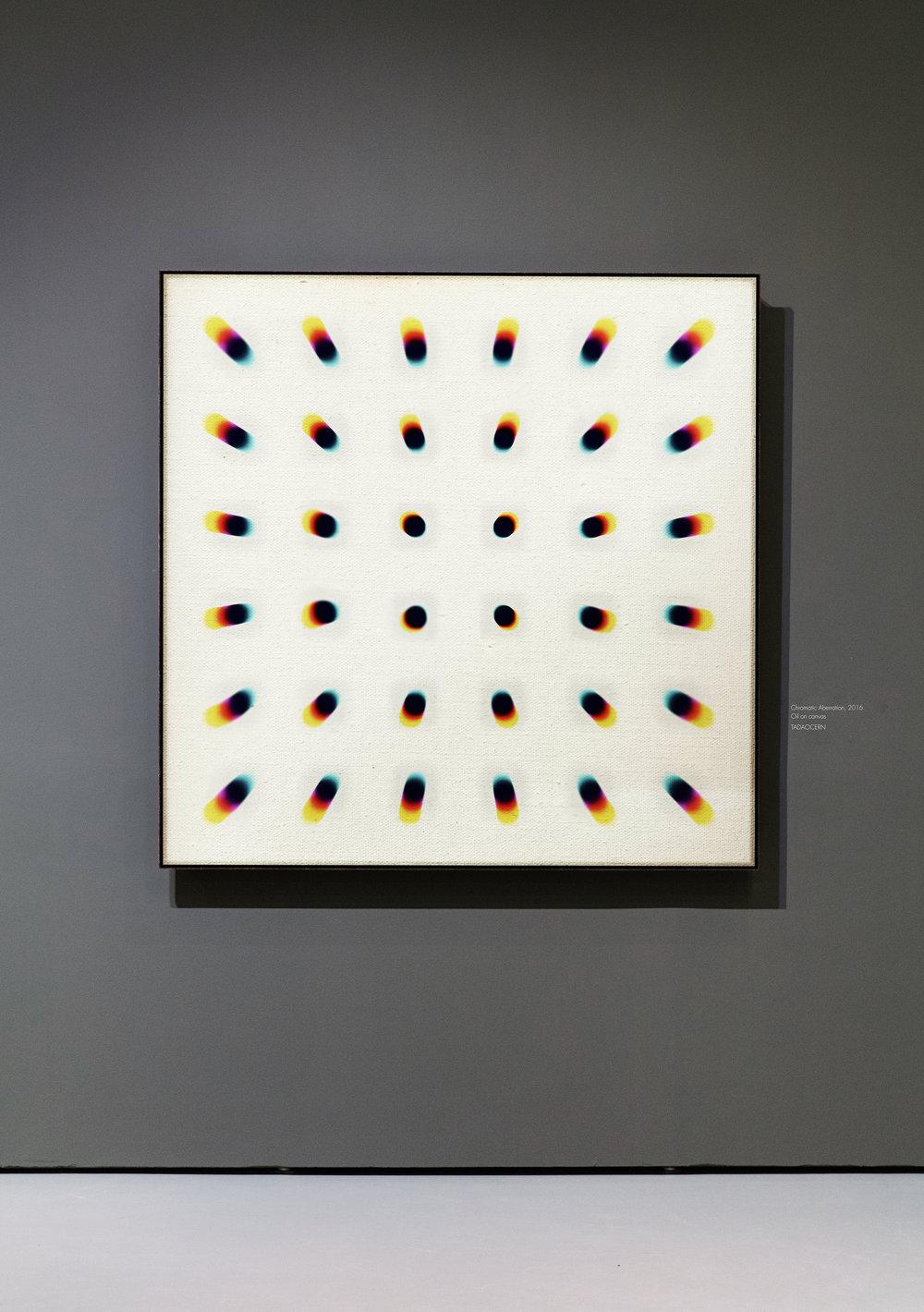 "e3e0d6,  Oil on Canvas, 47"" × 47"""
