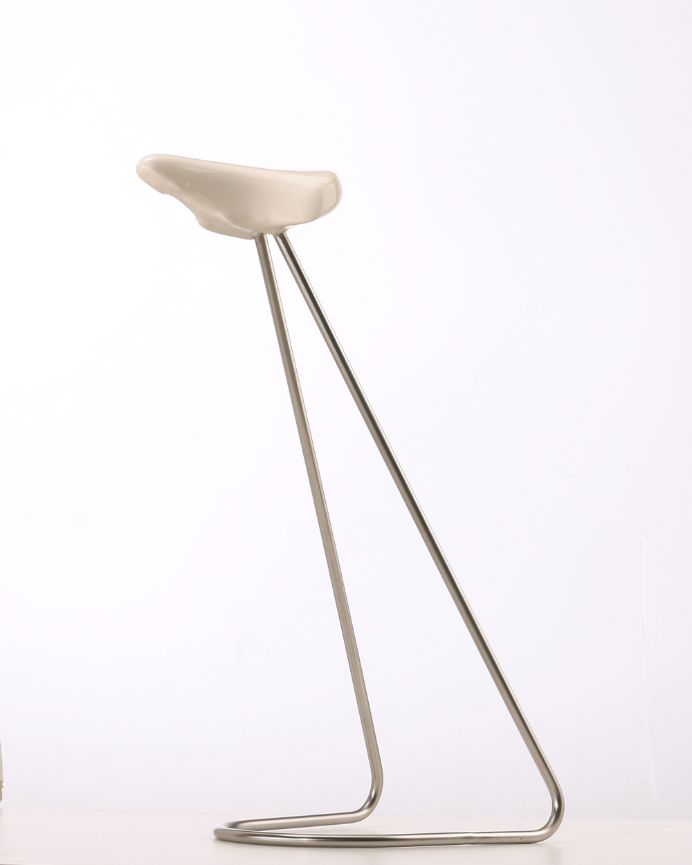 "Insectual, Bicycle Stool Series,  Porcelain and Stainless Steel, 23"" x 20"" x 20"""