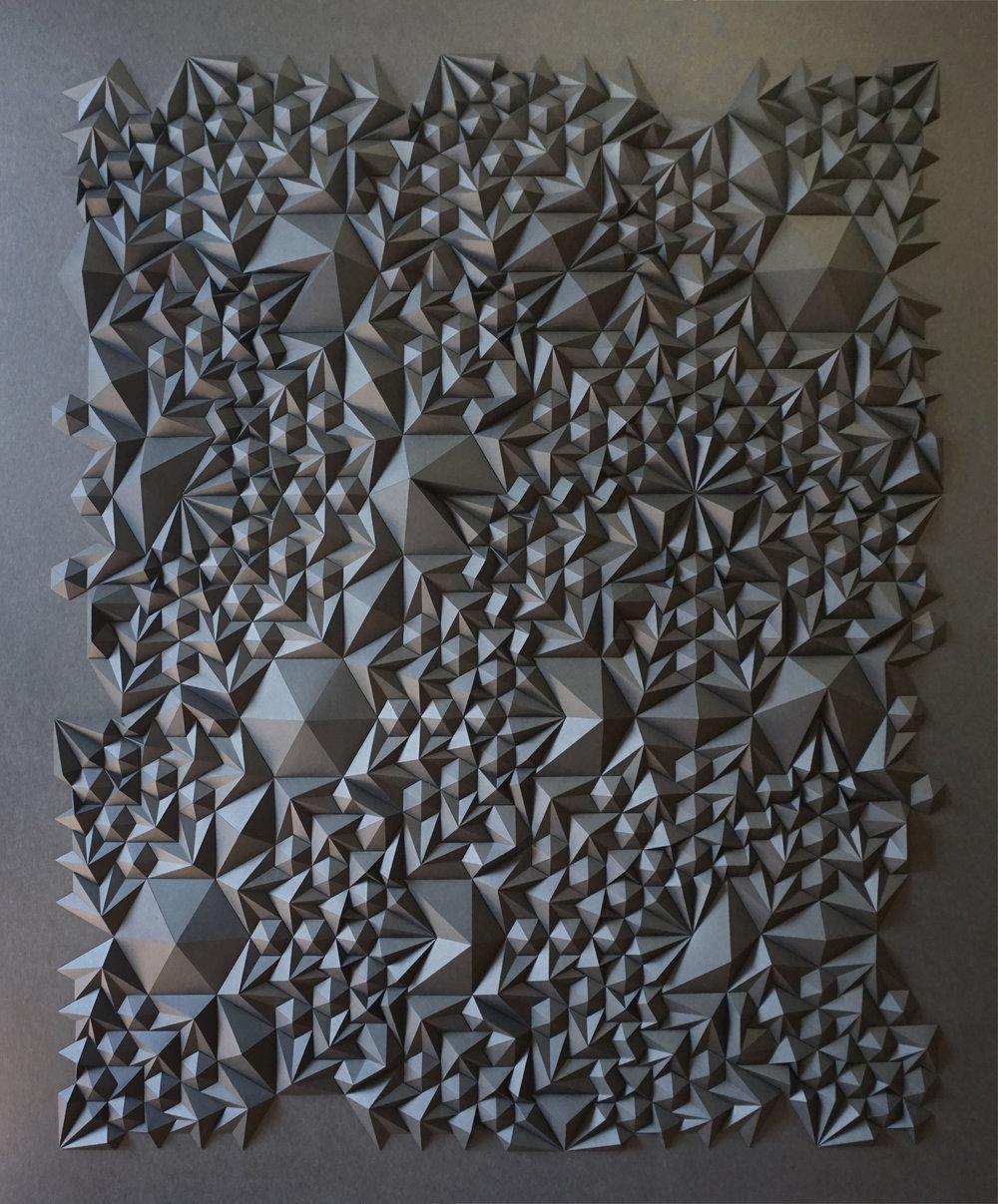 """Ara 178,  Cut and Folded Paper, 48""""H x 40""""W x 3.25""""D"""