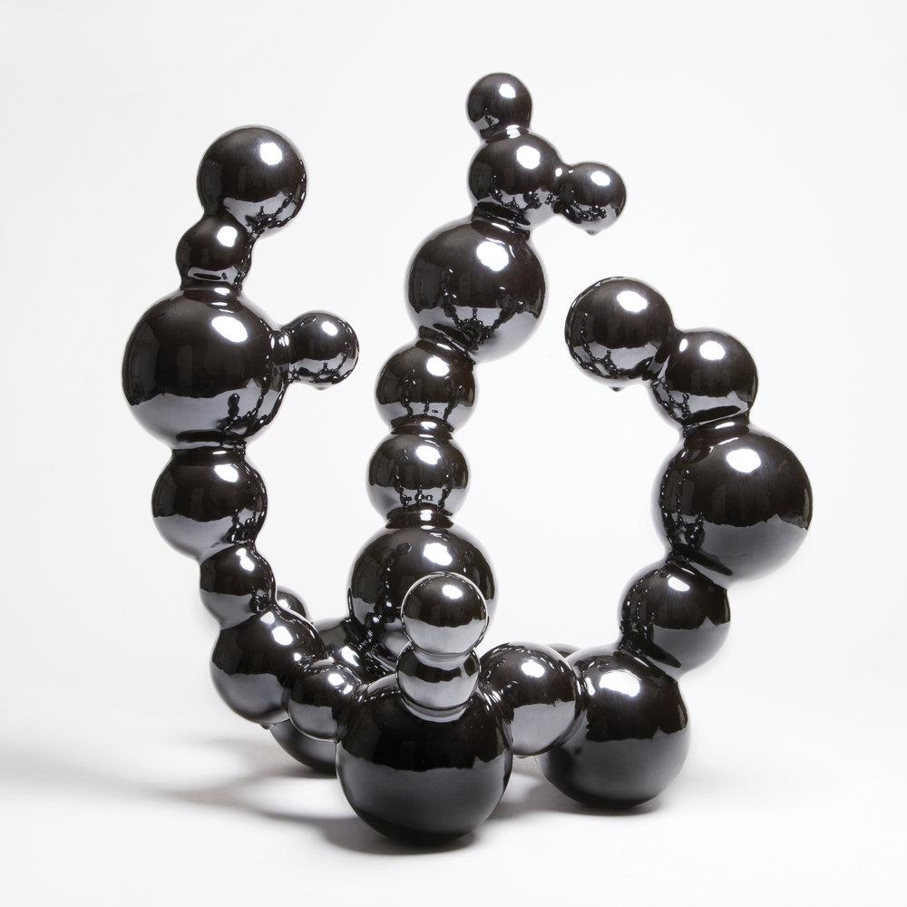 """M-5,  Stoneware with High Gloss Gunmetal Glaze, 18.5""""H x 17""""W x 13""""D"""