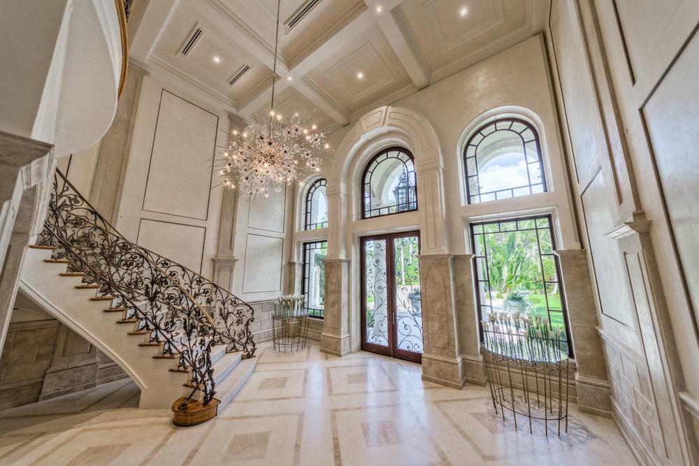 Private Beachfront Estate Grand Foyer